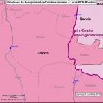Carte des Acquisitions de Louis II de Bourbon