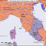 Le Saint Empire Romain Germanique en Italie en 1200
