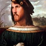 Cesare Borgia par Altobello Melone Academia Carrara des Beaux Arts de Bergame