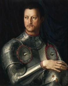 Portrait de Cosme1er de Medicis Allori Agnolo di Cosimo 1503-1572 dit Bronzino Galerie des Offices Florence