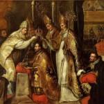 Juan de la Corte Couronnement de Charles Quint Musée Ingres Montauban Base Joconde