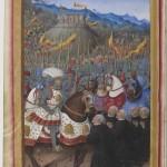 Louis XII devant les gênois soumis 1507 Jean Marot Le Voyage de Gênes par Jean Bourdichon