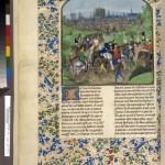 Arrivée de Louis II à Paris Maître d'Antoine de Bourgogne Ms Fr 2646 F321v BNF