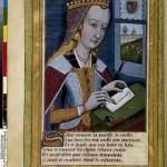 Phèdre écrivant Les Héroïdes d'Ovide trad. Octovien de Saint gelais ill. par Robinet Testard Ms 875 BNF