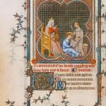 Heure de Jeanne de Navarre Louis IX lisant