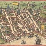 Plan de Bordeaux en 1572 Georg Braun Herzogin-Anna-Amalia-Bibliothek, Weimar