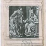 Rochefort et Lefèvre d'Etaples remetant leur livre à Louise de Savoie Petit Livrect à Sainte AnneMs Fr 4009 BNF