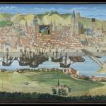 Vue de Rouen en 1526 Manuscrit des Fontaines