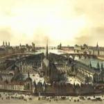 Le Palais en 1850 Peinture de Boisson d'après une gravure d'I.Silvestre