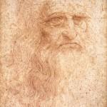 Leonard de Vinci Autoportrait Dessin Dessin (0,333 x 0,214) Inv n°15571 Bibbliothèque royale de Turin