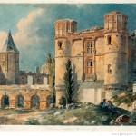 Château de style gothique de Gaillon Peinture du XIXème siècle