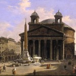 Eglise du Pantheon Ippolito Caffi 1814-1866 Collection privée