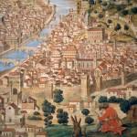 Aquarelle de Petrini d'après la gravure de Francesco Roselli