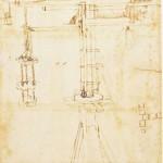 Dessin de la grue à contrepoids de Brunelleschi
