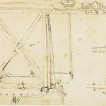 Dessin de la grue de la Lanterne de Brunelleschi