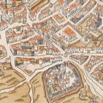Abbaye de Saint-Germain-des-prés Plan de Truschet et Hoyau vers 1550
