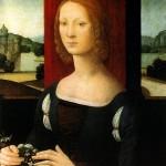Caterina Sforza Portrait (Medicis) Lorenzo di Credi, Museo Civico de Forlì