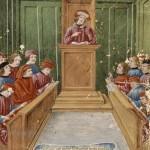 Cours de droit a l-universite de Bologne