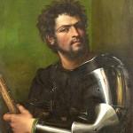 Sebastiano del Piombo Portrait d'un homme en armure Peut-être Jean de Medicis des Bandes Noires Wadsworth Atheneum museum of art Connecticut