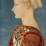 Lucrezia Landriani Maîtresse de Ludovic Le More et mère de Caterina Sforza Antonio del Pollaiolo GemaldeGalerie Berlin