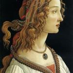 Sandro Botticelli, Portrait d'une jeune femme, 1480-1485, tempera sur bois, 82 x 54 cm, Francfort Städelsche Kunst Institut
