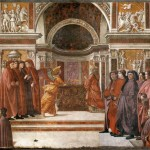 Apparition de l'Ange a Zaccharie par Domenico Girlandaio Chapelle Tornabuoni Eglise Santa Maria Novella