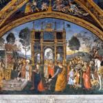 Appartements Borgia Musées du Vatican Bernardino di Betto dit Le Pinturicchio (1454-1513) vers 1494 Fresque de Sainte Catherine d'Alexandrie