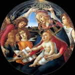 Sandro Botticelli 1445 1510 Madonna del Magnificat circa 1480-1481 Crédit photo Web Gallery of art Diamètre 110 cm Galerie des Offices