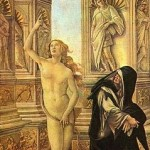 Calomnie d'Apelle détail par Sandro Botticelli 1495 Détrempe sur bois 62 × 91 cm Galerie des Offices
