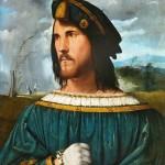 Portrait de Jeune homme Altobello Attribué à Cesare Borgia Académie Carrara de Bergame