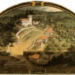 Donjon Le trebbio Giusto Utens Museo Firenze com'era