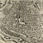 Plan de la ville de Ferrare 1598 Modène Biblioteca Estense Universitaria