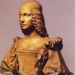 Giancristoforo Romano Busto en terre cuite représentant peut-être Isabelle d'Este Marquise de Mantoue