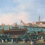 Giuseppe Bernardino Bison Le Départ du Bucentaure vers le Lido de Venise, le jour de l'Ascension