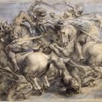 Bataille d'Anghiari par Leonard de Vinci