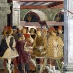 Borso d'Este Détail de l'allégorie d'avril Francesco Del Cossa - fresques - 500 x 320 cm - 1476 - (Palazzo Schifanoia (Ferrara)