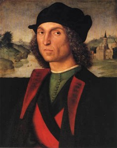 Guidobaldo Montefeltro duc d'Urbin c 1506 370 x 475 Rafael Sanzio Liechtenstein Collections Princières