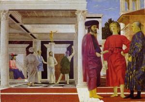 Piero della francesca La flagellation du Christ Galleria delle Marche Urbino
