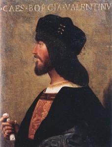 copie tableau Bartolomeo Veneto Cesare Borgia Duc de Valentinois Musee National du Palais de Venise