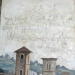 "Grafiti Farnesina ""Les lansquenets ont fait courir le Pape"""