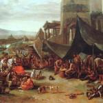 Les imperiaux sous les murs de Rome par Johannes Lingelbach 17ème siècle