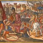 Les Impériaux à l'attaque de Rome 1527 Gravure sur cuivre Merian