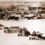 Plan en coupe de la Villa Madame de Clement VII