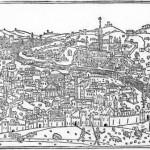 Vue de Rome Giacomo Filippo Foresti de Bergame 'Supplementum Chronicarum,' publié à Venise en 1490
