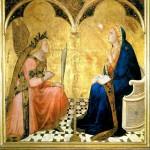 Ambrogio Lorenzetti L'Annonciation 1344 Sienne Italie Pinacoteca Nazionale