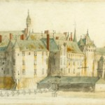Chantilly vers 1665 Aquarelle de Van der Meulen Galerie Wildenstein New York