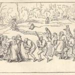 Danse de saint Guy par P Breughel Esquisse de Rubens
