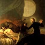 Exorcisme par Saint francois de Borgia Goya Musee du Prado