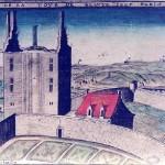 Gravure de Claude Chastillon La tour de Beauté sur Marne
