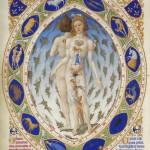 L'Homme zodiacal Frères de Limbourg et Jean Colombe Folio 14 v Très riches heures du duc de Berry Ms 65 Musée Condé